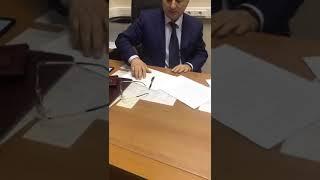 Задержание начальника ОРЧ собственной безопасности МВД Дагестана Магомеда Хизриева.