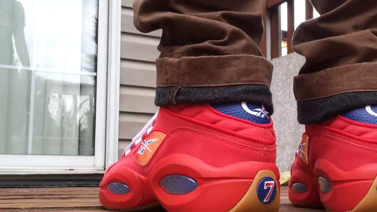 Reebok Question Mid Packer Review + On Feet - YouTube ee8a9d0bb
