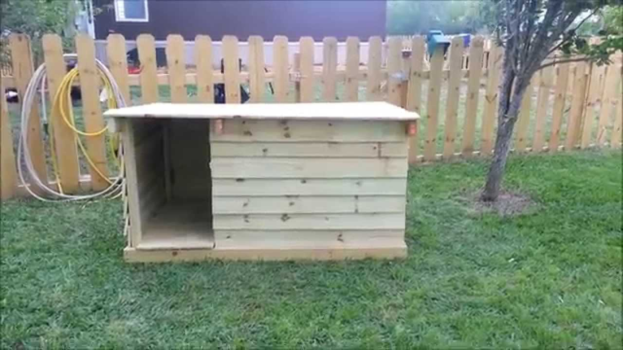 How To Build a Dog House Out of Fence Pickets - YouTube