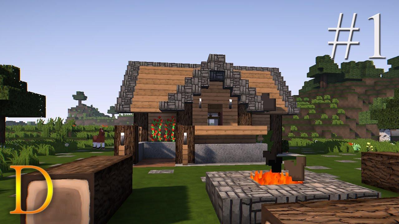 Minecraft Poradnik Jak Zbudowac Domek Z Drewna Na Start 1