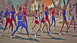 Аэробика Танцевальная битва в стиле 80 х Парни против девушек Музыка Дискотека Ретро Ностальгия