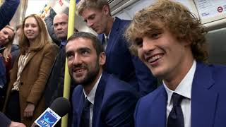ATP's Best Take London Underground Ahead Of Nitto ATP Finals 2018
