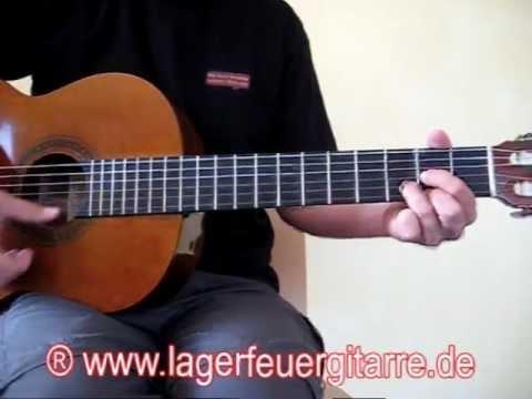 Die Lagerfeuer-Gitarre (Gitarre lernen ohne Noten)