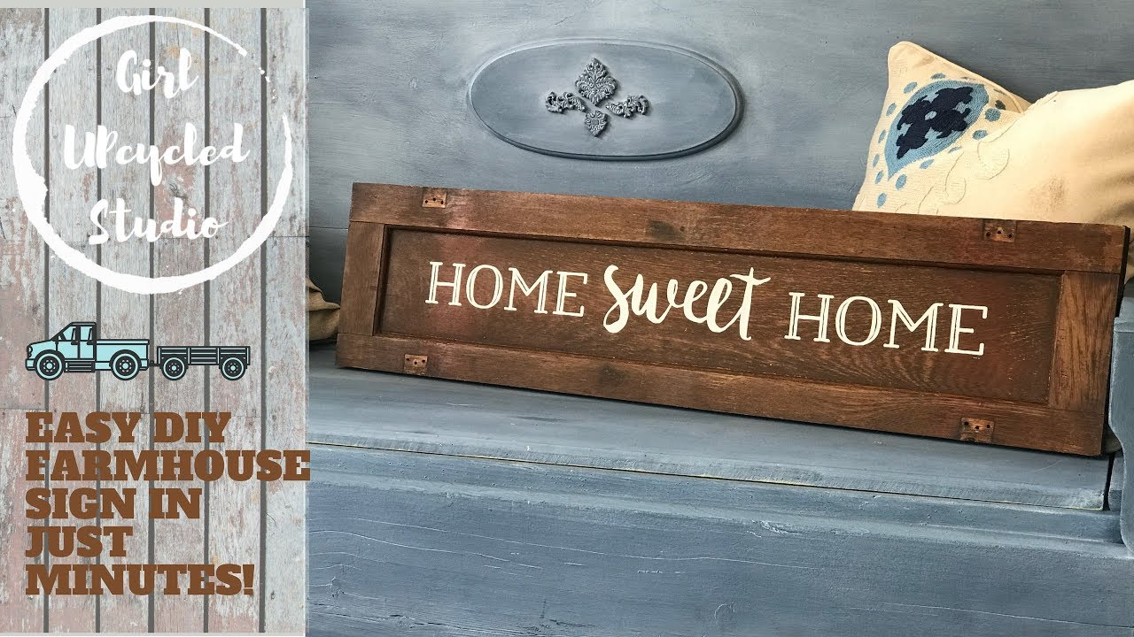 How To Make A Farmhouse Style Sign The Easy Diy Way Youtube