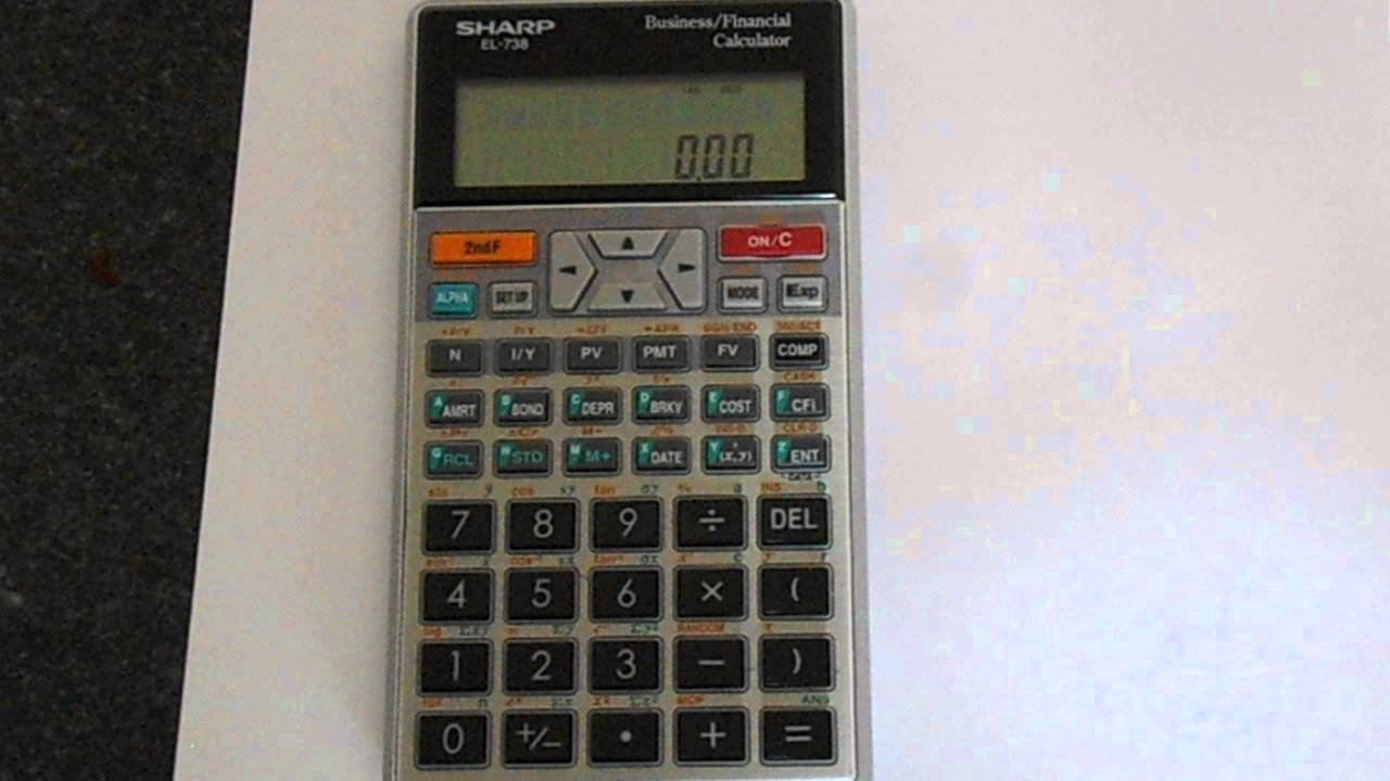 how to reset a sharp el 738 financial calculator youtube rh youtube com sharp calculator el-735 user manual sharp calculator el-735 user manual