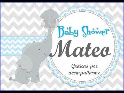 Baby Shower Elefantitos Youtube