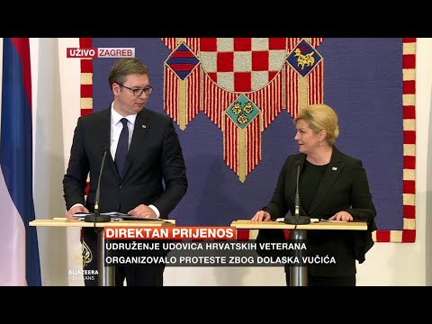 Zajednička press konferencija Vučića i Grabar-Kitarović