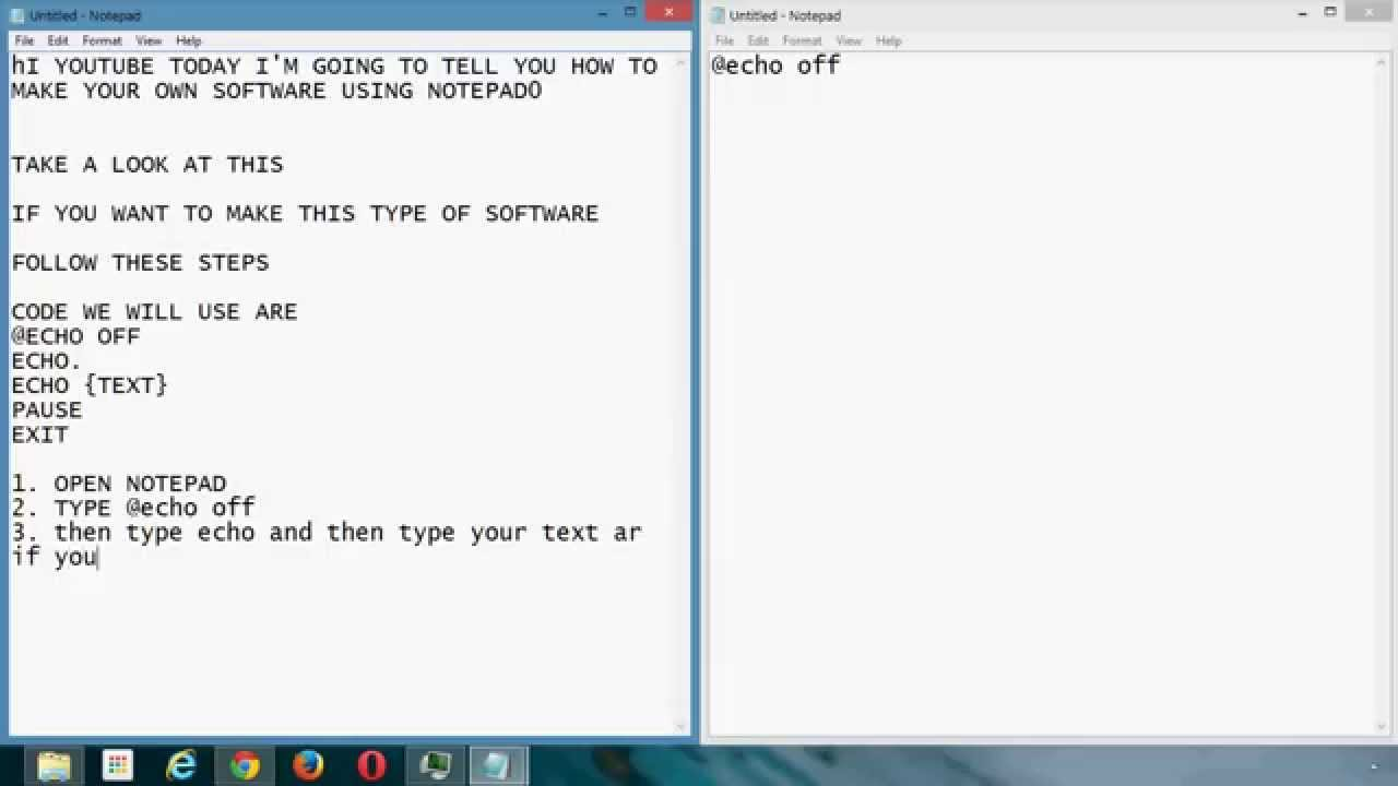 How to Make a Program Using Notepad