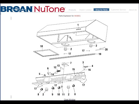 hqdefault broan rangehood power switch replace model 643001 youtube Vent a Hood Wiring Diagram at alyssarenee.co