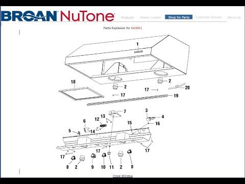 Broan Rangehood Power Switch Replace Model 643001 Youtube