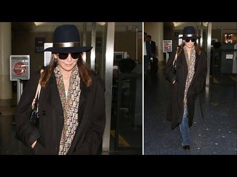 Diane Lane Super Cute At LAX After Admitting Fling With Bon Jovi
