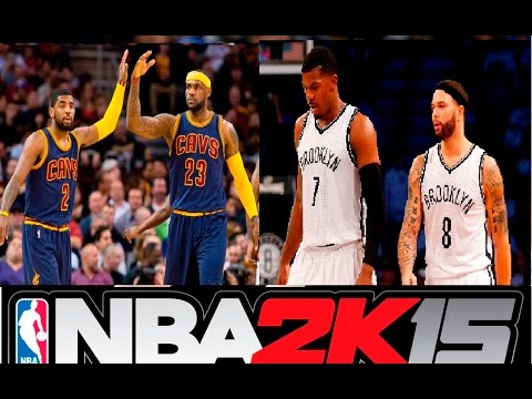 NBA 2k15 Kyrie Irving & Lebron James vs Deron Williams & Joe Johnson -Highlights-