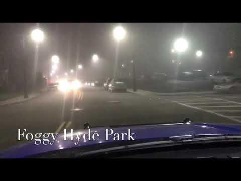 Foggy Night in Hyde Park, MA