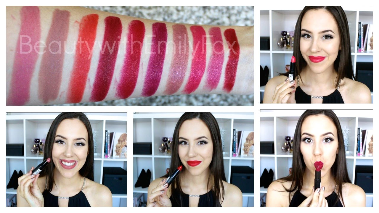 3f29b3a98 Rimmel Lasting Finish Lipstick by Kate Moss +Lip swatches - YouTube