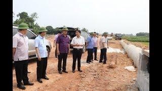 Lãnh đạo tỉnh kiểm tra tiến độ thực hiện dự án đường vành đai 5 đoạn đi qua huyện Phú Bình