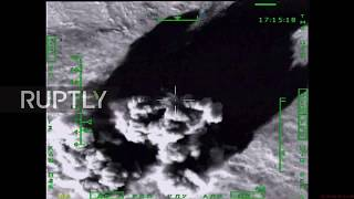 Syria: MoD footage shows Kalibr missiles obliterating IS targets