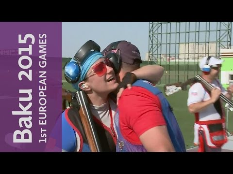 Slovakia convincingly win the Mixed Team Trap Final | Shooting | Baku 2015 European Games