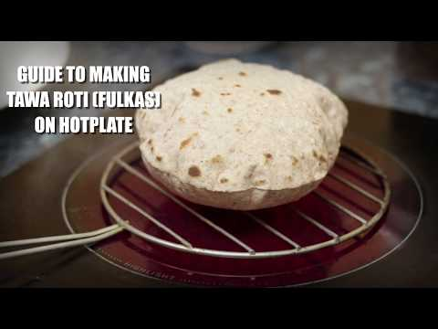 HOW TO MAKE ROTI (FULKAS) ON  ELECTRIC COOKTOP/ HOT PLATE