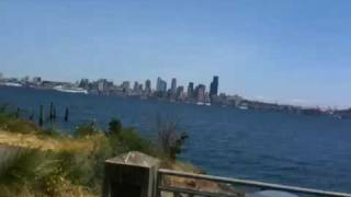 Alki beach Seattle bike ride