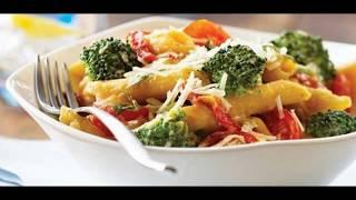 Супер простой и быстрый ужин. Рецепт макарон с овощным соусом.