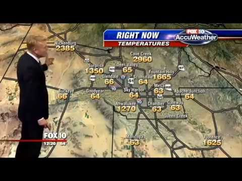 Rick Woodell - When your electronic weather map doesn't work correctly, have fun with it!