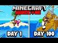 100 giorni in unisola deserta su minecraft hardcore
