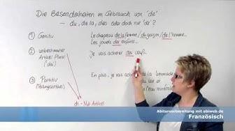 Gebrauch der Präpositionen à und de in Französisch - Abitur Französisch