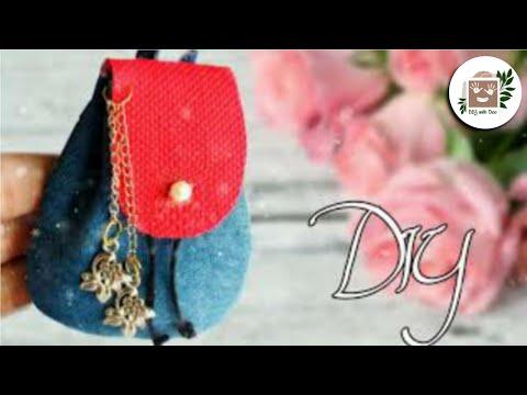 DIY miniature backpack | bag from jeans || DA hobbies-diy
