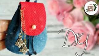 DIY miniature backpack   bag from jeans    DA hobbies-diy