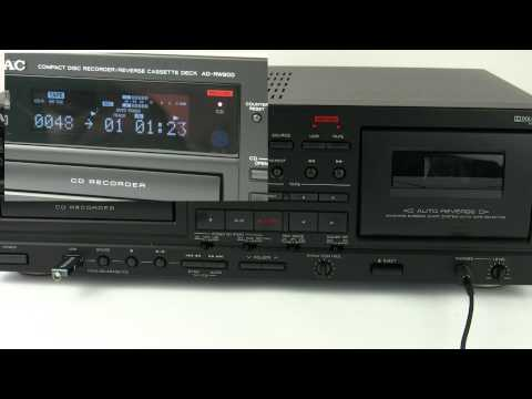 TEAC AD-RW900 - How to record on different formats - YouTube