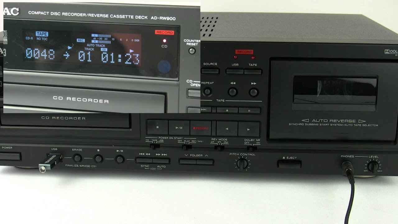 Teac Ad Rw900 How To Record On Different Formats Youtube