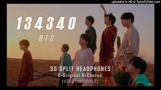 BTS 방탄소년단 - 134340 ┃3D 좌우음성 Split Headphones, 화음강조 L-Original R-Chorus