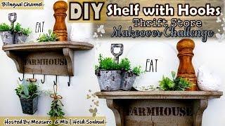 THRIFT STORE MAKEOVER CHALLENGE | DIY FARMHOUSE SHELF | TRASH TO TREASURE