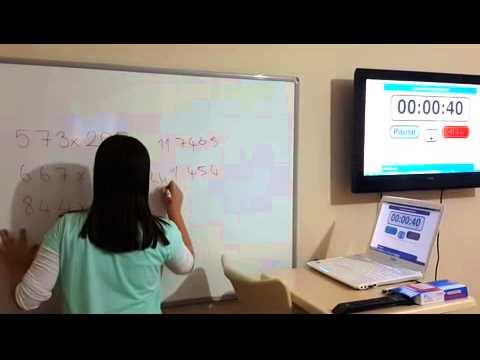 öğrencimiz ayşe elifin hafıza teknikleri ile çarpma performansı.