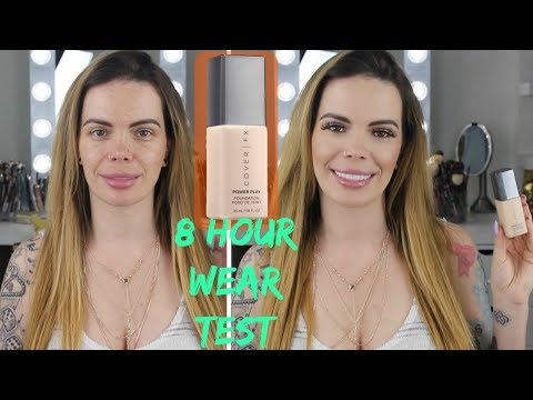 Cover FX Power Play Foundation | 8 Hour Wear Test