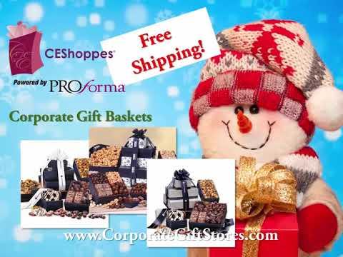 logo company christmas gift baskets free shipping free shipping on corporate holiday gift baskets - Christmas Gift Baskets Free Shipping