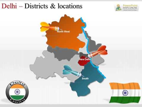 Delhi Presentation Map In PowerPoint