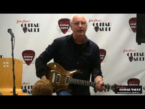 "Paul Reed Smith demonstrating what he calls the ""Pure Tone"" of a guitar"