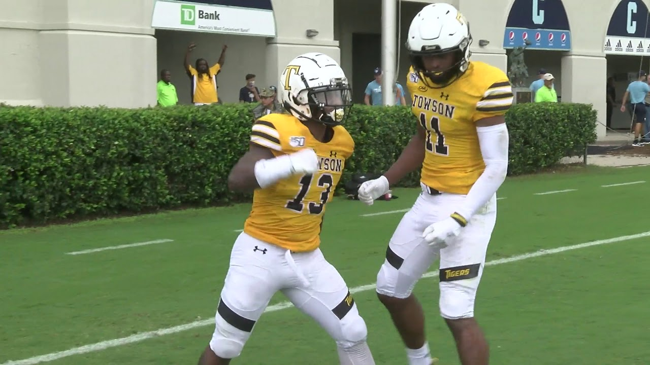 new arrival 454b1 05dfb Towson Football Takes Down The Citadel in 2019 Season Opener