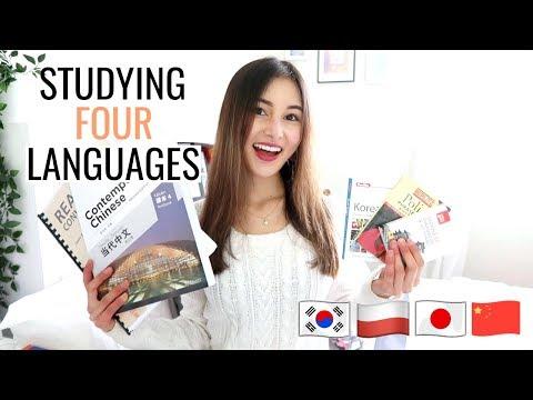 Study 4 Languages With Me!⎮Korean, Chinese, Polish & Japanese