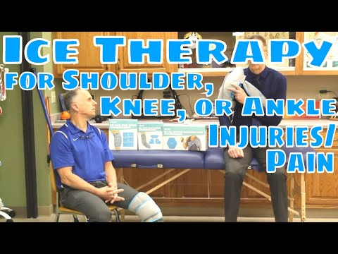 Ice Therapy for Shoulder, Knee, or Ankle Injuries/Pain