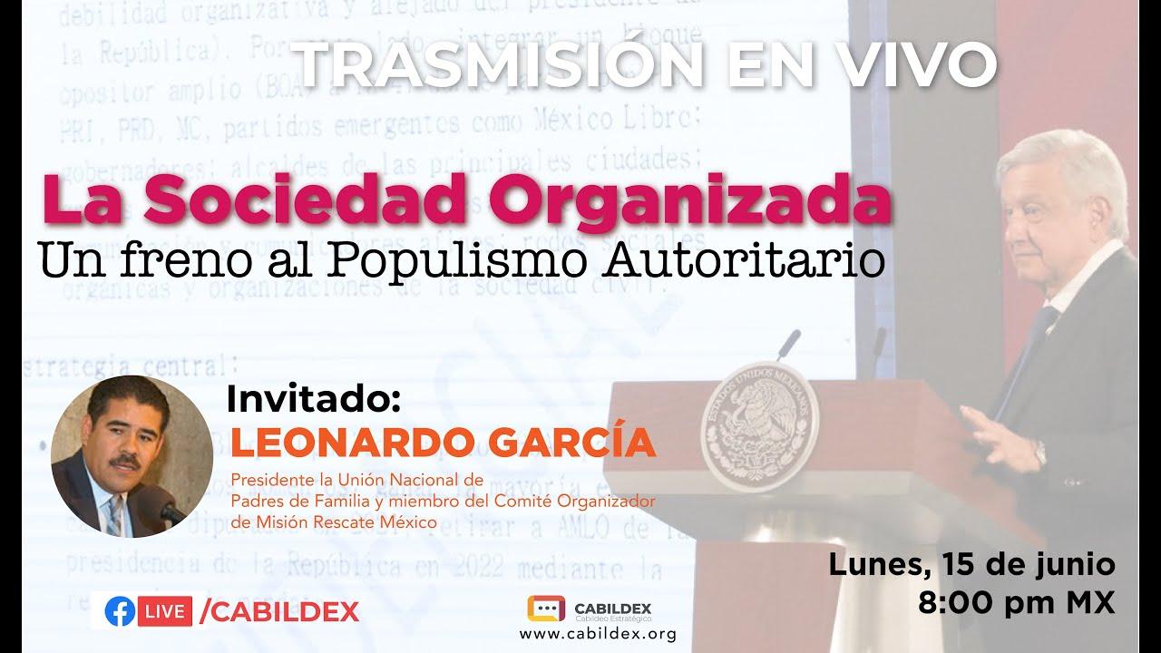 Cabildex Live: La Sociedad Civil Organizada, un freno al populismo autoritario