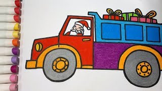 How To Draw a Truck For Christmas || Draw For Kids