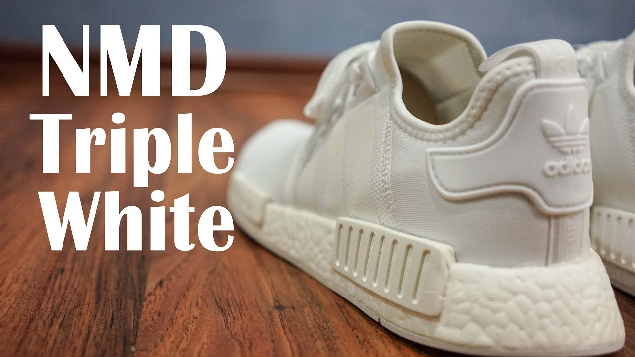 924d26b54 Adidas NMD Triple White Unbox   On-Feet - YouTube