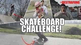 SKATEBOARD CHALLENGE! +Bestrafung   mit Markey