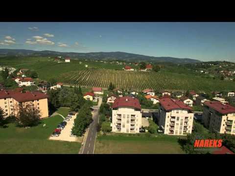 Slovenske Konjice iz zraka v 4K resoluciji.