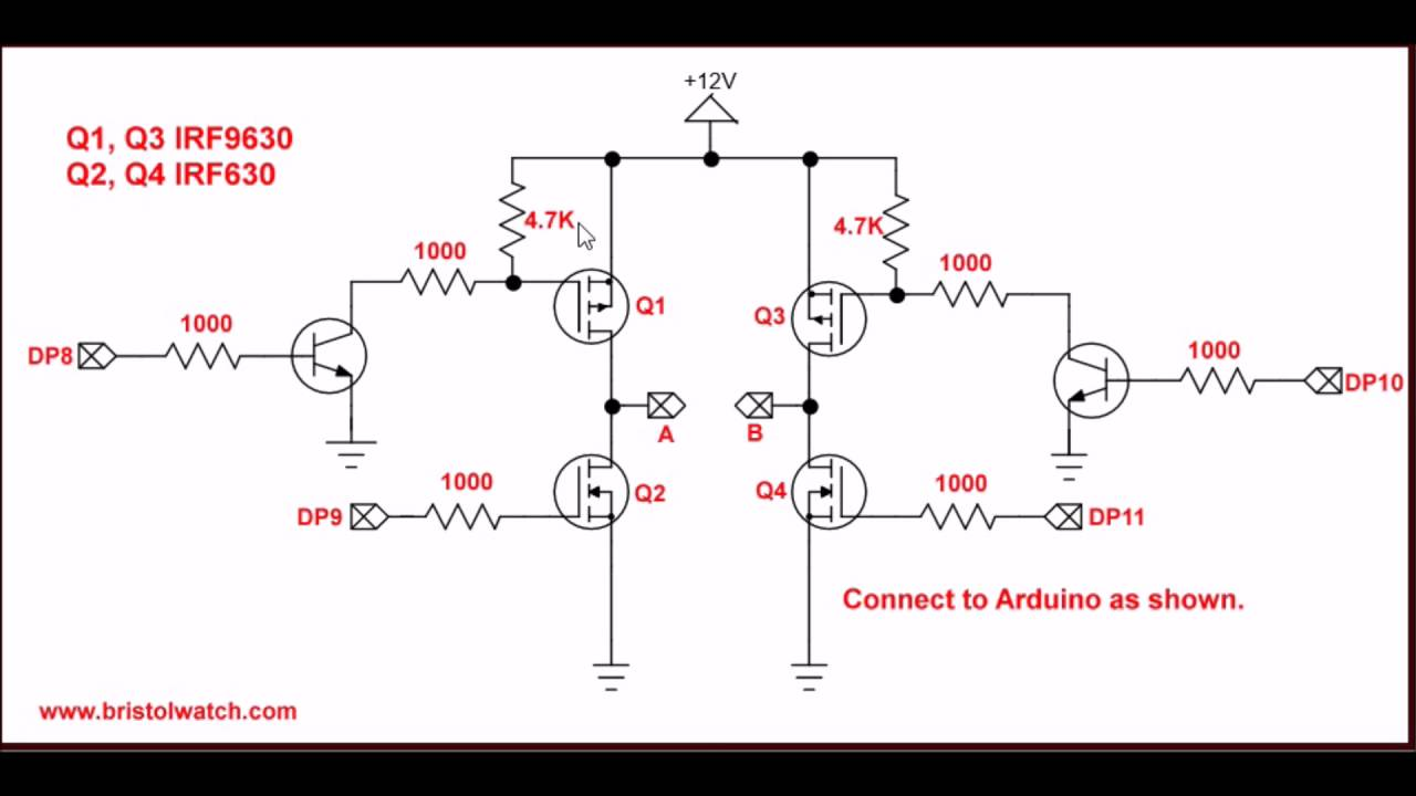 small resolution of mosfet h bridge for arduino 2