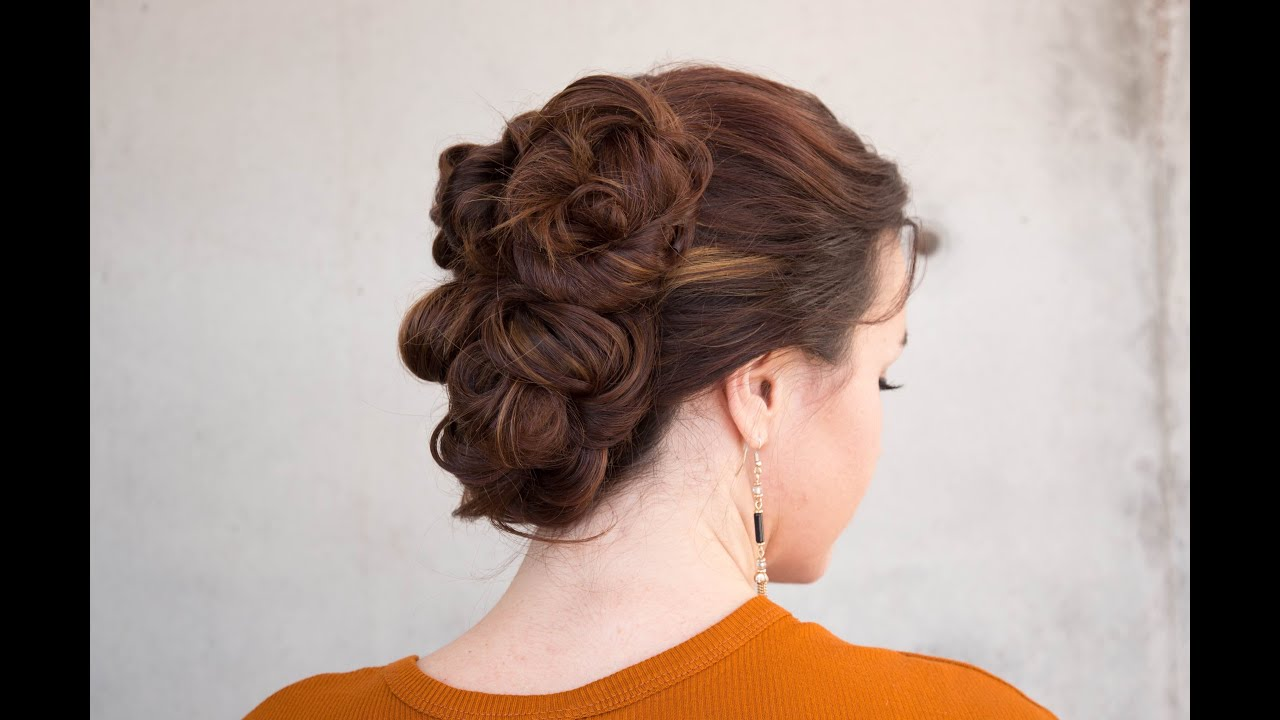 Easy Knotted Updo Youtube