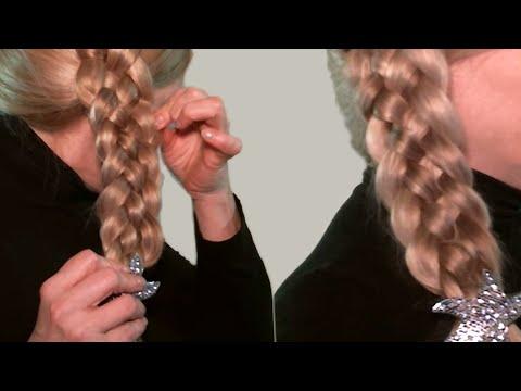 Плетение Косичек Видео Уроки  Красивая Коса из 5 прядей  Beautiful Hair In The Braid Strands Of 5