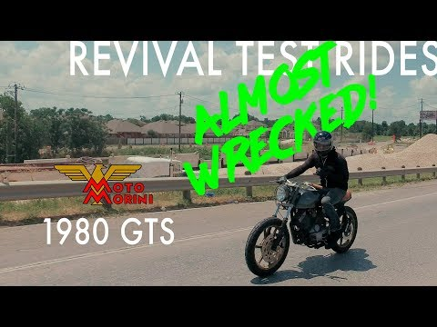 ALMOST WRECKED DURING TEST RIDE! // Revival Test Rides: 1980 Moto Morini GTS